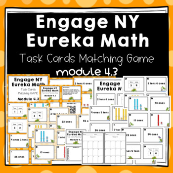 Engage NY Eureka Math (1st grade) Module 4 Lesson 3 Task Cards Matching Game
