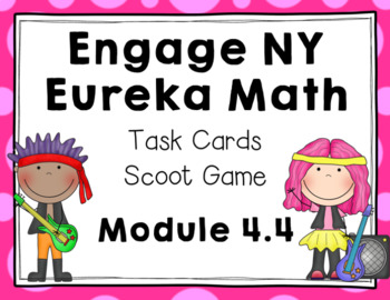 Engage NY Eureka Math (1st grade) Module 4 Lesson 4 Task Cards & Scoot Game