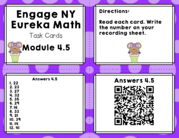 Engage NY Eureka Math (1st grade) Module 4 Lesson 5 Task Cards & Scoot Game
