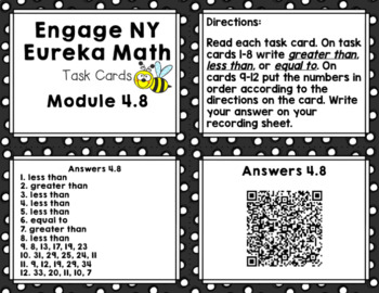 Engage NY Eureka Math (1st grade) Module 4 Lesson 8 Task Cards & Scoot Game