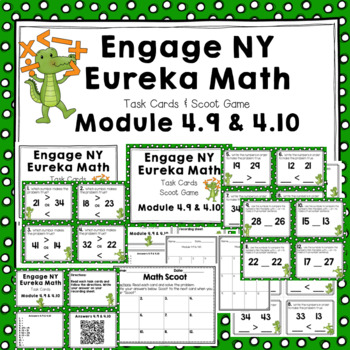 Engage NY Eureka Math (1st grade) Module 4 Lesson 9 & 10 Task Cards & Scoot Game
