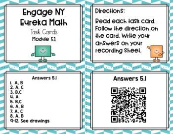 Engage NY Eureka Math (1st grade) Module 5 Lesson 1 Task Cards & Scoot Game
