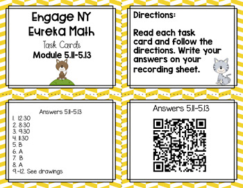 Engage NY Eureka Math (1st grade) Module 5 Lesson 11-13 Task Cards/ Scoot Game