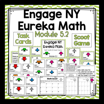 Engage NY Eureka Math (1st grade) Module 5 Lesson 2 Task Cards & Scoot Game