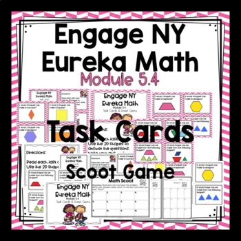 Engage NY Eureka Math (1st grade) Module 5 Lesson 4 Task Cards & Scoot Game