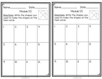 Engage NY Eureka Math (1st grade) Module 5 Lesson 5 Task Cards
