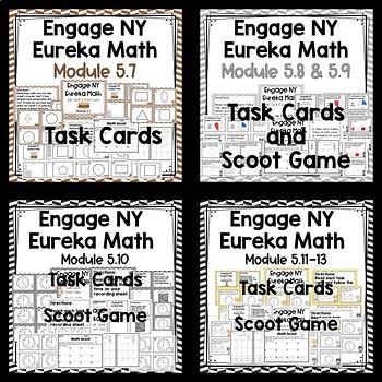 Engage NY Eureka Math (1st grade) Module 5 Task Cards BUNDLE