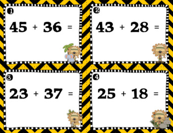 Engage NY Eureka Math -1st grade Module 6 Lesson 18 & 19 Task Cards/Scoot Game