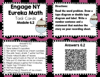 Engage NY Eureka Math (1st grade) Module 6 Lesson 2 Task Cards