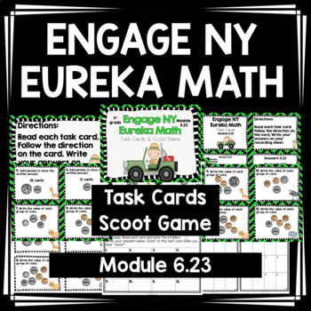 Engage NY Eureka Math -1st grade Module 6 Lesson 23 Task Cards/Scoot Game
