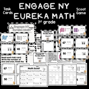 Engage NY Eureka Math (1st grade) Module 6 Lesson 3 Task Cards