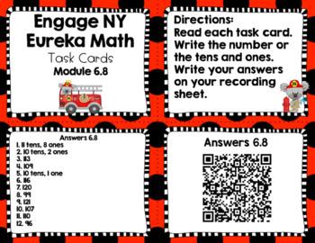 Engage NY Eureka Math (1st grade) Module 6 Lesson 8 Task Cards
