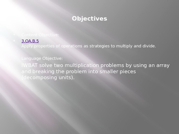 Engage NY / Eureka Math 3rd Grade Module 1 Lesson 10 PowerPoint