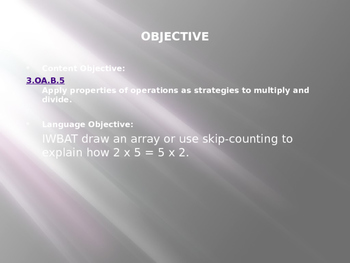 Engage NY / Eureka Math 3rd Grade Module 1 Lesson 7 PowerPoint