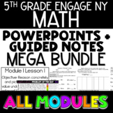 5th Grade Math PowerPoints and Notes GROWING YEAR LONG BUN