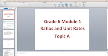 Engage NY Eureka Math 6th Grade Math Module 1