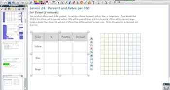 Engage NY Eureka Math 6th Grade Math Module 1 Topic D for Promethean Boards