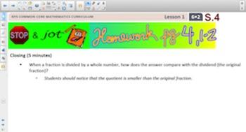 Engage NY Eureka Math 6th Grade Math Module 2 Topic A for Smartboards