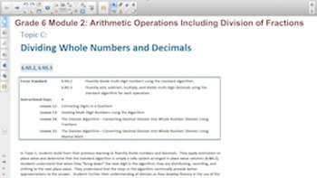 Engage NY Eureka Math 6th Grade Math Module 2 Topic C for Smartboards