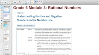 Engage NY Eureka Math 6th Grade Math Module 3 Topic A for Smartboards