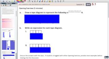 Engage NY Eureka Math 6th Grade Math Module 4 Topic A for Promethean Boards