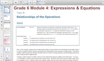 Engage NY Eureka Math 6th Grade Math Module 4 Topic A for Smartboards