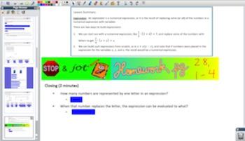Engage NY Eureka Math 6th Grade Math Module 4 Topic C for Promethean Boards
