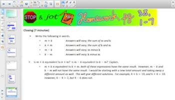 Engage NY Eureka Math 6th Grade Math Module 4 Topic D for Smartboards