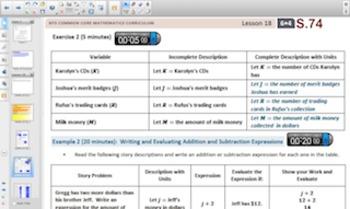 Engage NY Eureka Math 6th Grade Math Module 4 Topic F for Smartboards