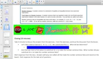 Engage NY Eureka Math 6th Grade Math Module 4 Topic G for Smartboards