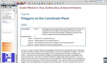 Engage NY Eureka Math 6th Grade Math Module 5 Topic B for Promethean Boards