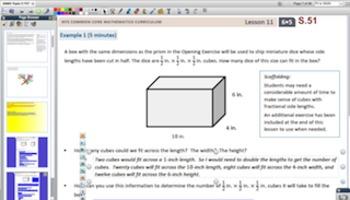 Engage NY Eureka Math 6th Grade Math Module 5 Topic C for Promethean Boards