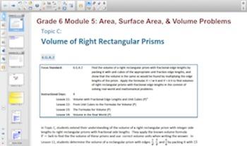 Engage NY Eureka Math 6th Grade Math Module 5 Topic C for Smartboards