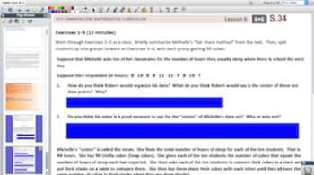 Engage NY Eureka Math 6th Grade Math Module 6 Topic B for Promethean Boards