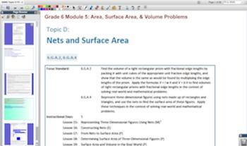 Engage NY Eureka Math 6th Grade Math Module5 for Promethean Boards