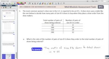 Engage NY Eureka Math 6th Grade Module Tasks for Promethean Boards