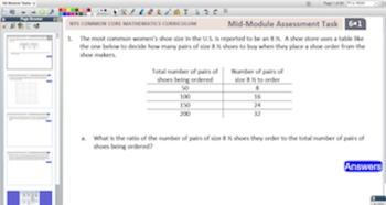 Engage NY Eureka Math 6th Grade Module Tasks for Promethea