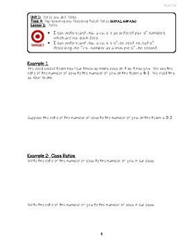 Engage NY 6th Grade Unit 1 Notes/Exit Tickets/Problem Sets Friendly Re-Format