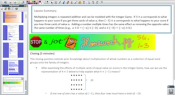 Engage NY Eureka Math 7th Grade Math Module 2 Topic B for Promethean Boards