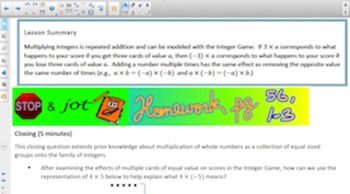 Engage NY Eureka Math 7th Grade Math Module 2 Topic B for Smartboards