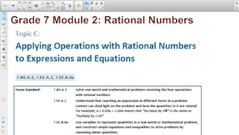 Engage NY Eureka Math 7th Grade Math Module 2 Topic C for