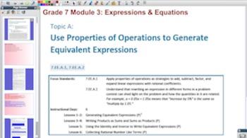 Engage NY Eureka Math 7th Grade Math Module 3 Topic A for Promethean Boards