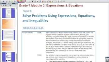 Engage NY Eureka Math 7th Grade Math Module 3 Topic B for Promethean Boards