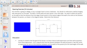 Engage NY Eureka Math 7th Grade Math Module 3 Topic B for Smartboards