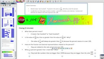 Engage NY Eureka Math 7th Grade Math Module 4 Topic A for Promethean Boards