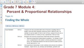 Engage NY Eureka Math 7th Grade Math Module 4 Topic A for Smartboards