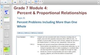 Engage NY Eureka Math 7th Grade Math Module 4 Topic B for Smartboards