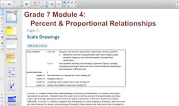 Engage NY Eureka Math 7th Grade Math Module 4 Topic C for Smartboards