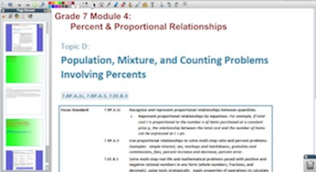 Engage NY Eureka Math 7th Grade Math Module 4 Topic D for Promethean Boards