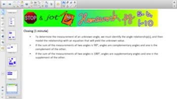 Engage NY Eureka Math 7th Grade Math Module 6 Topic A for Smartboards